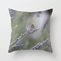 Lavender Butterflies - J… Throw Pillow