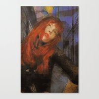 Bemused Portrait Canvas Print