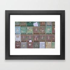 Mailboxes I Framed Art Print