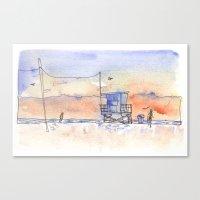Sunset In Santa Monica Canvas Print