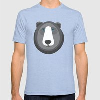 Forest Friends: Bear Mens Fitted Tee Tri-Blue SMALL