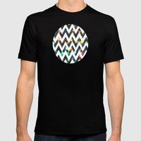 Chevron Sparkles Mens Fitted Tee Black SMALL
