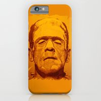 iPhone & iPod Case featuring The creature - orange by ARTito