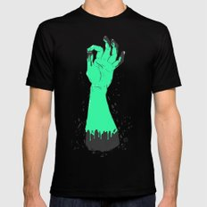 Sticky Hand Mens Fitted Tee Black SMALL