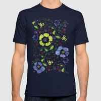 April Truly Mens Fitted Tee Navy SMALL