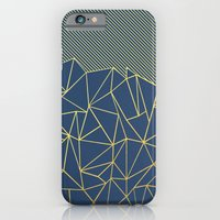 Ab Lines 45 Navy and Gold iPhone 6 Slim Case