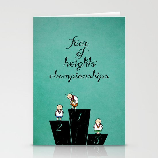 fear of height Stationery Card