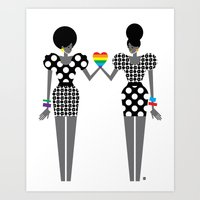 Totally In Love Girls (L… Art Print