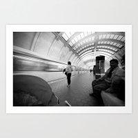 On The Metro, Washington… Art Print