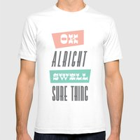 swell Mens Fitted Tee White SMALL