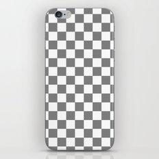 Checker (Gray/White) iPhone & iPod Skin