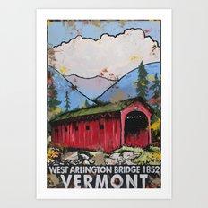 West Arlington Bridge, Arlington Vermont Benefit Print Art Print