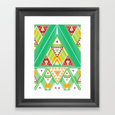 Triangle Indigenous Pattern Framed Art Print