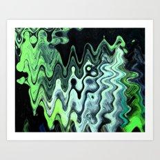 Gray Wave Art Print