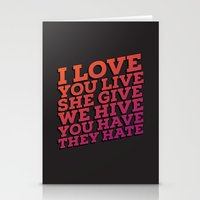 The sad truth Stationery Cards