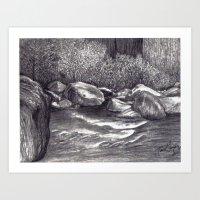 Black and White 7 Art Print