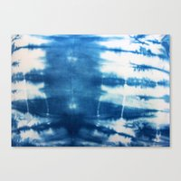 Horizontal Indigo Stripes Canvas Print