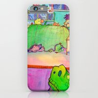 iPhone & iPod Case featuring Bumps in the Night by mendydraws