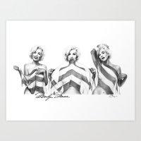 Monroe Trio Art Print