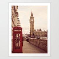 London Booth Art Print