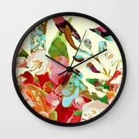 clown floral Wall Clock