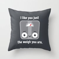 Through Thick And Thin Throw Pillow