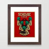 Scheiße Part 1: Fight The Scheiße Framed Art Print