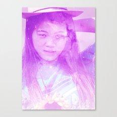 Galaxy Girl Canvas Print