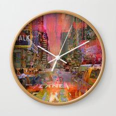 traffic jam pink Wall Clock