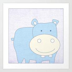 Baby Hippo Jungle Series Print Art Print
