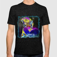 Marilin butterfly dolphin  Mens Fitted Tee Tri-Black SMALL
