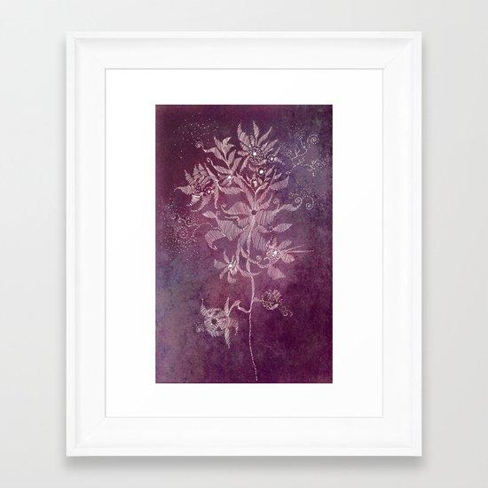 exotic flower Framed Art Print