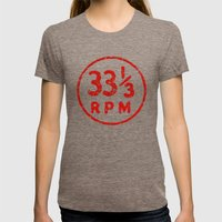 33 & a third RPM Circle Womens Fitted Tee Tri-Coffee SMALL