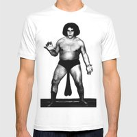 Andre's Giants Mens Fitted Tee White SMALL