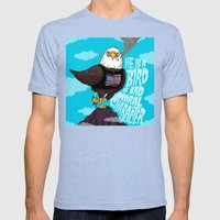 He Is A Bird Of Mad Mora… Mens Fitted Tee Tri-Blue SMALL
