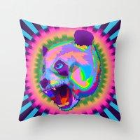 Prismatic Panda  Throw Pillow