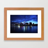 Cincinnati Skyline Framed Art Print