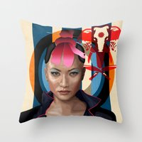 Queen of Darkness Far Cry 4 -  Yuma Throw Pillow