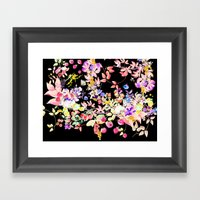 Soft Bunnies black Framed Art Print
