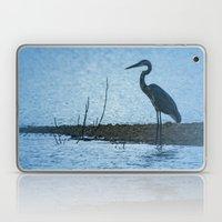 Great Blue Heron Fishing Laptop & iPad Skin