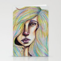 CRAYON LOVE:Woman In The… Stationery Cards
