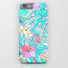Pretty Pastel Hawaiian Hibiscus Print Slim Case iPhone 6s