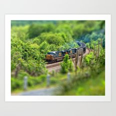 Rollin' Round the Bend Art Print
