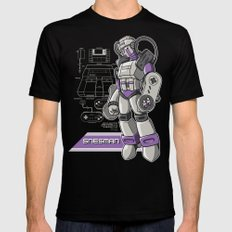 SNES Man SMALL Black Mens Fitted Tee