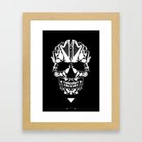 MUSICAL SKULL Framed Art Print