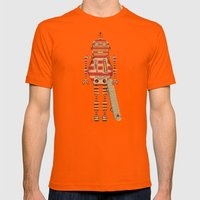 Stan Skate Xe 90 Mens Fitted Tee Orange SMALL