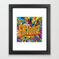 Framed Art Print featuring Friday by Roberlan Borges