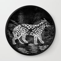 Forest Panther Wall Clock