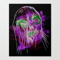 Face Illustration 13 Canvas Print