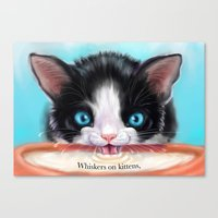 Whiskers On Kittens Canvas Print